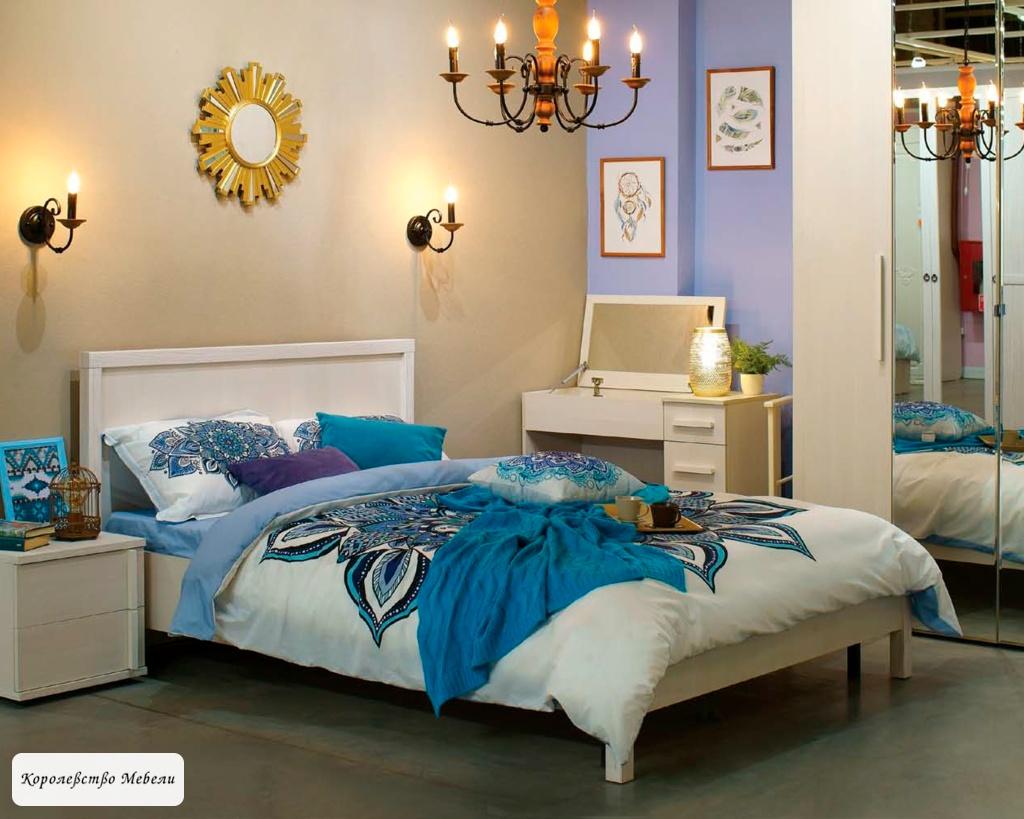 Кровать BAUHAUS, бодега светлый, без основания
