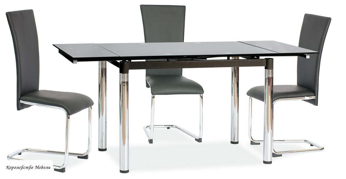 Стол раздвижной GD-018 (74-110(170) черный