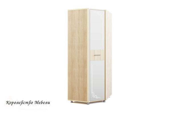 Оливия 15 шкаф угловой, с зеркалом Дуб сонома/ваниль