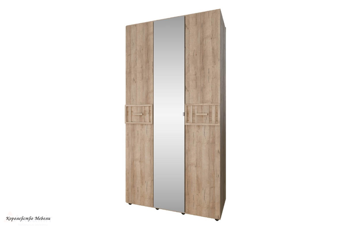 Шкаф для одежды и белья SCANDICA OSLO 444 ФАСАД Зеркало/Стандарт