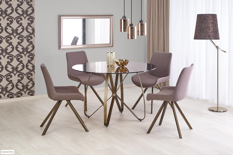 Стол LUNGO (120) (коричневый / античное золото)