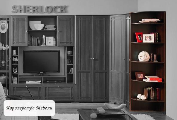 Sherlock 14 Полка угловая орех шоколадный
