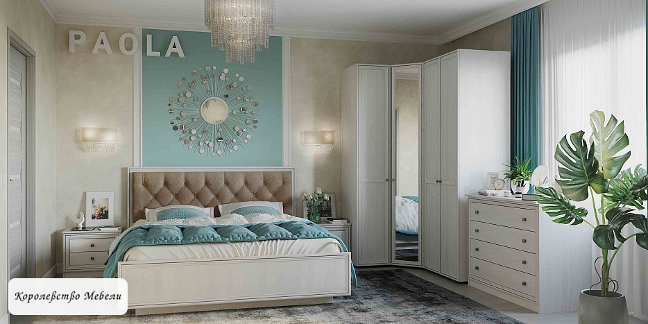 Кровать Paola Люкс с патиной, с подъемным механизмом