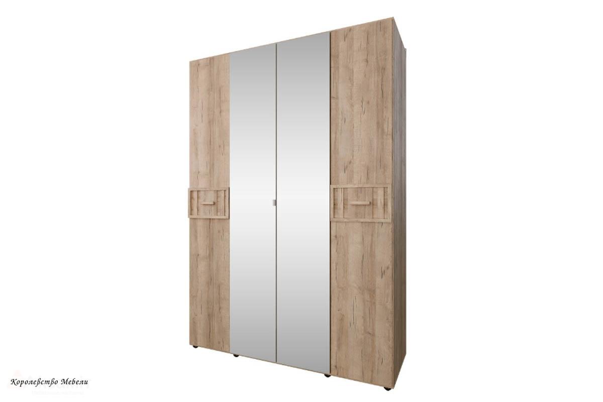 Шкаф для одежды и белья SCANDICA OSLO 555 зеркало