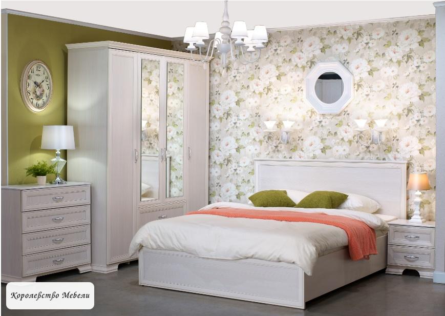 Кровать Венеция (160х200), с подъемным механизмом (бодега светлый)