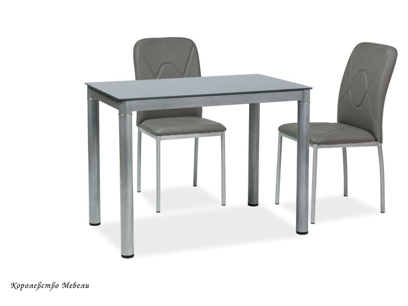 Стол стеклянный GALANT (100*60), серый