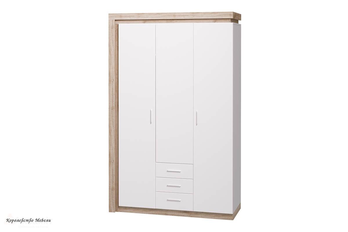 Шкаф для одежды с ящиками 3-х дв. без зеркал Люмен 15