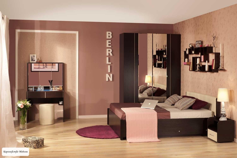 Кровать BERLIN, без основания (венге)