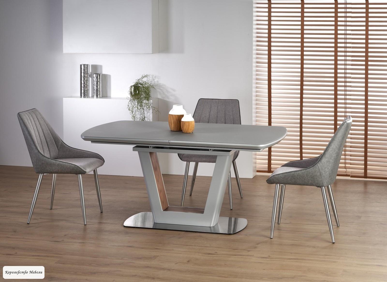 Стол раскладной Bilotti (160-200) (светло-серый / орех)