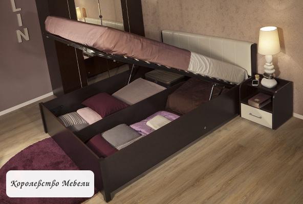 Кровать BERLIN, с подъемн. мех. (венге)