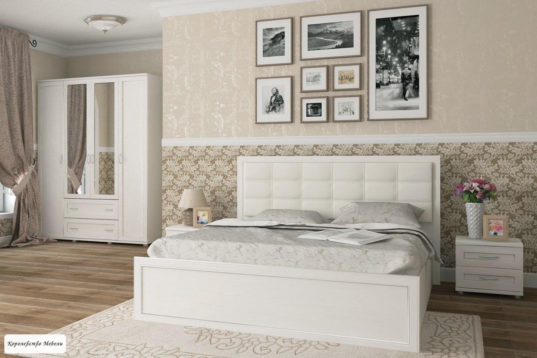 Кровать Ника-Люкс  , с подъемн. мех. (бодега светлый)