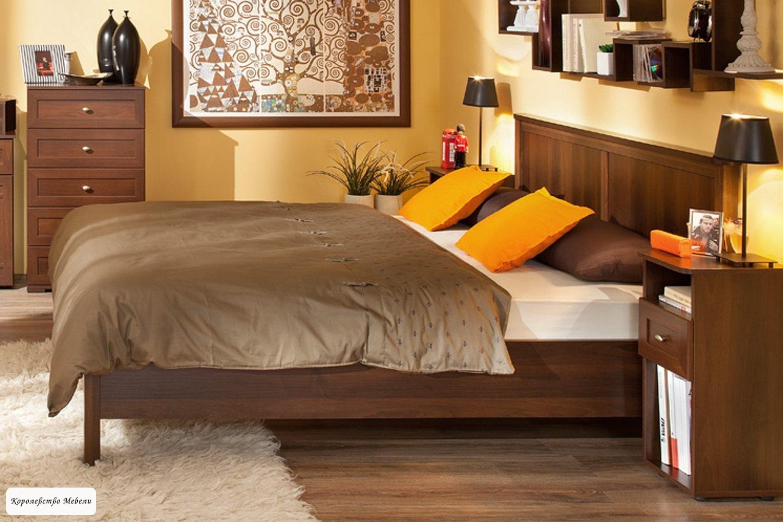 Кровать Sherlock, без основания (орех шоколадный)