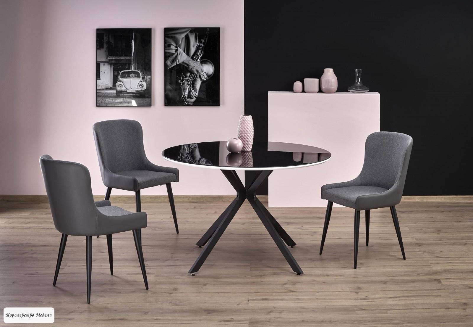 Стол стеклянный AVELAR (120), черный