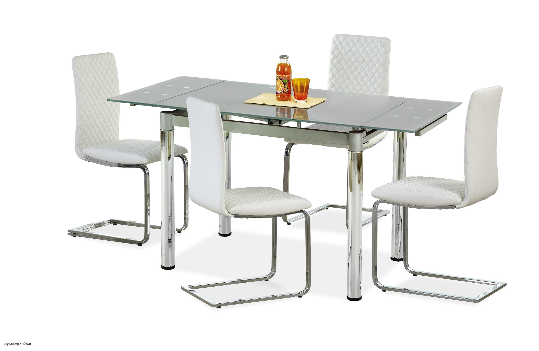 Стол раздвижной LOGAN 2 (96--142) серый / хром
