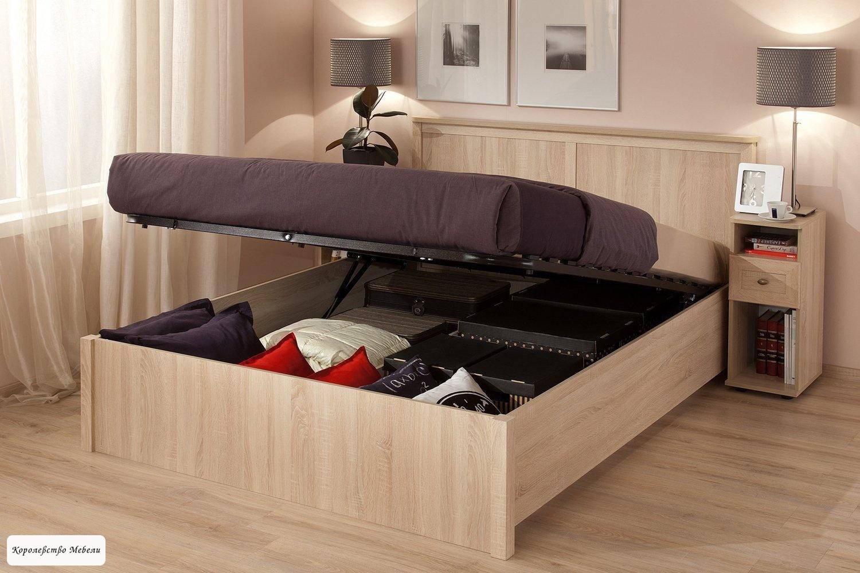 Кровать Sherlock, с подъёмным механизмом (дуб сонома)
