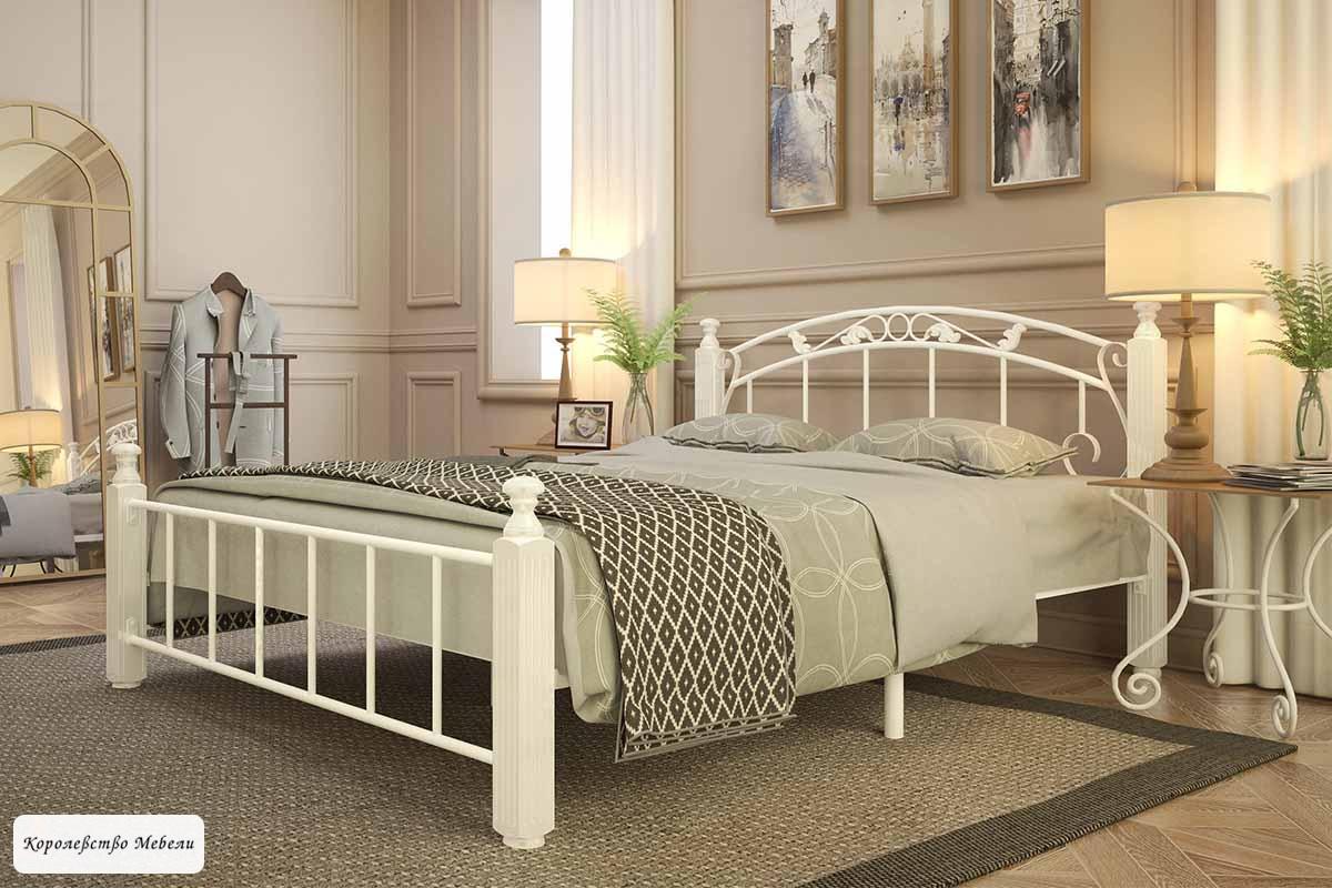 Кровать Garda-5, белая, с основанием