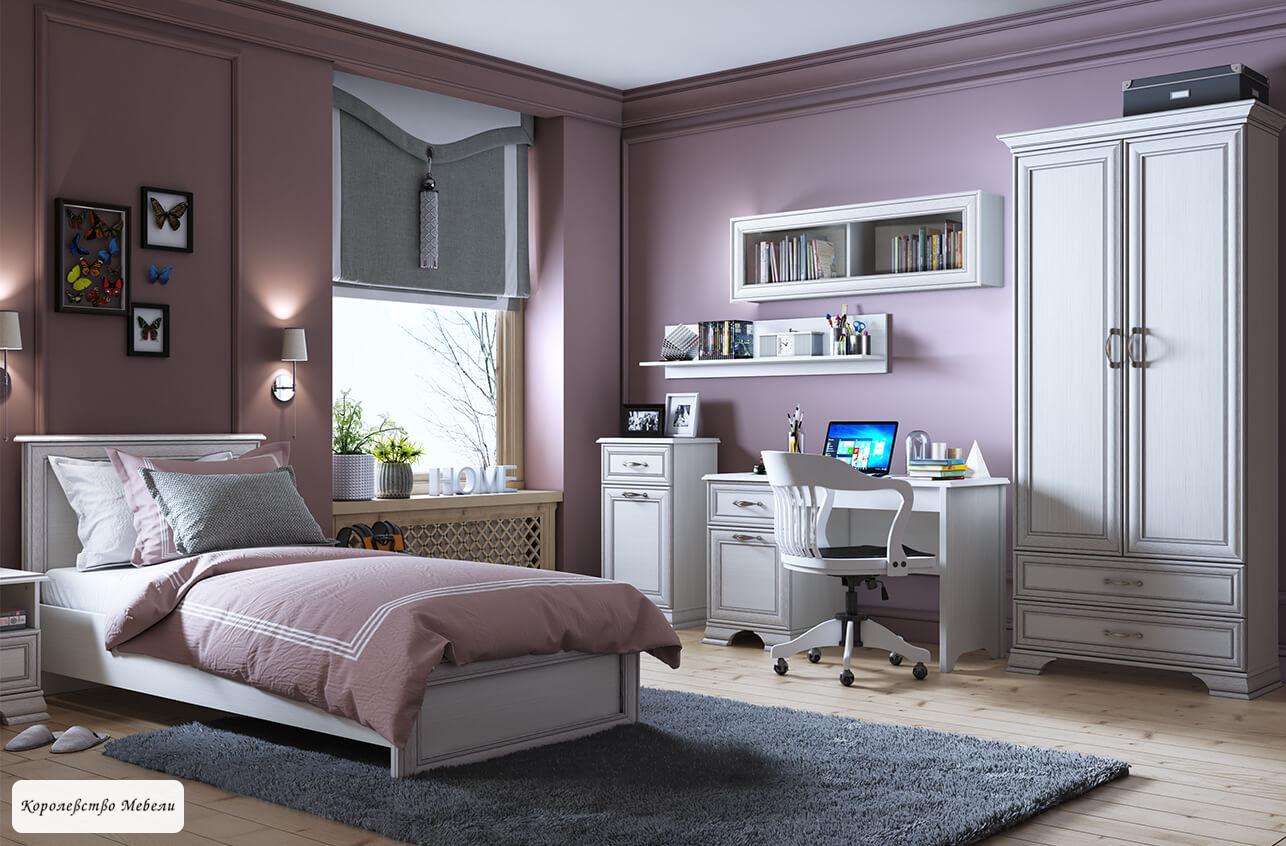 Кровать Tiffany (90*200), с основанием