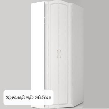 Виктория 26 Шкаф угловой (белый глянец)