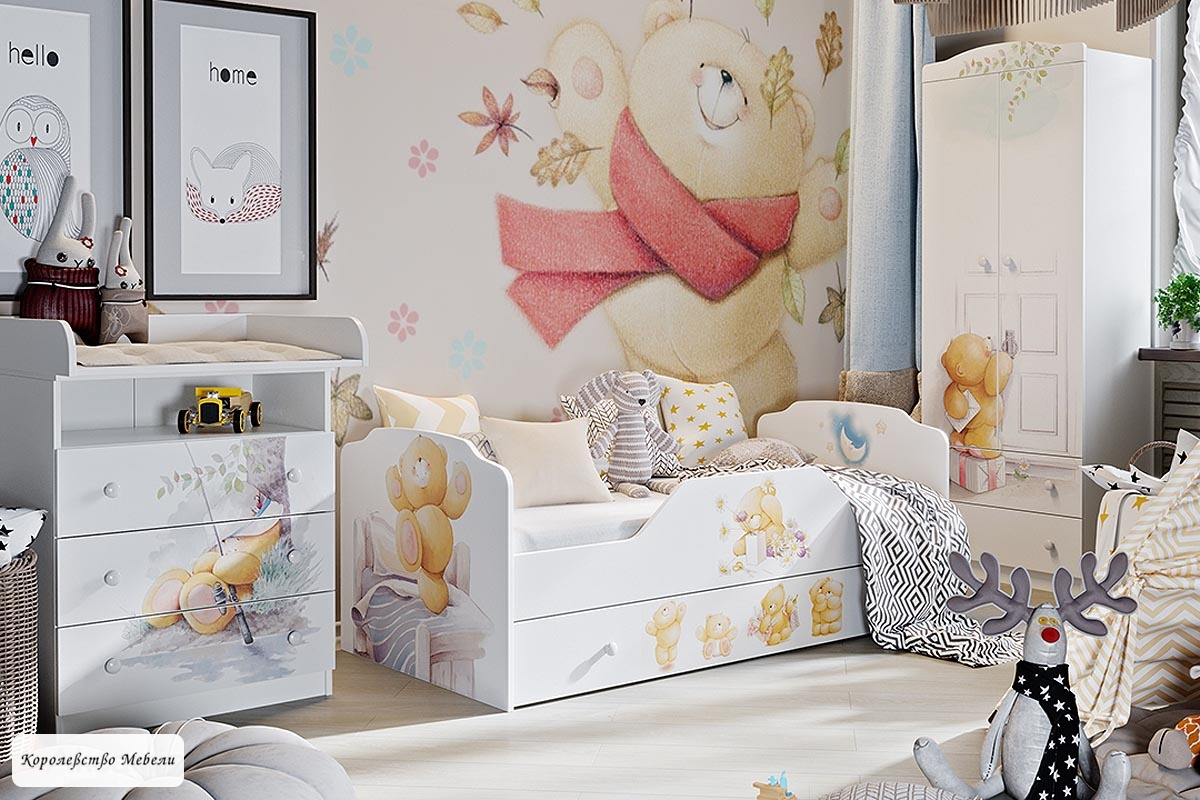 Кровать Тедди (80*160) с ящиком