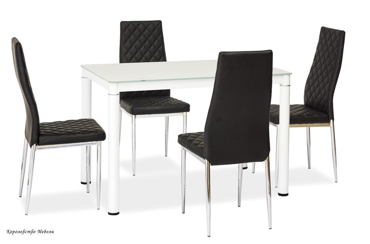 Стол  стеклянный  GALANT (110*70), белый