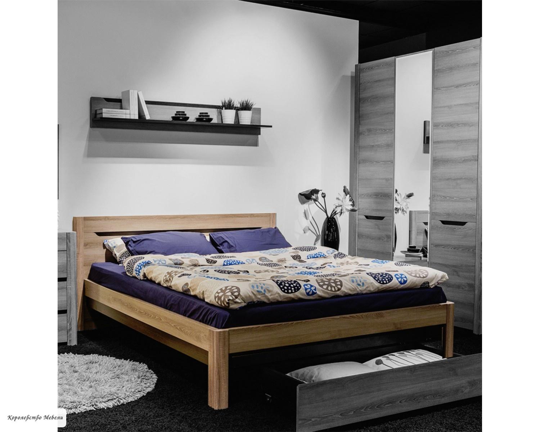 Кровать Афина А3 ,без основания (ясень таормина)