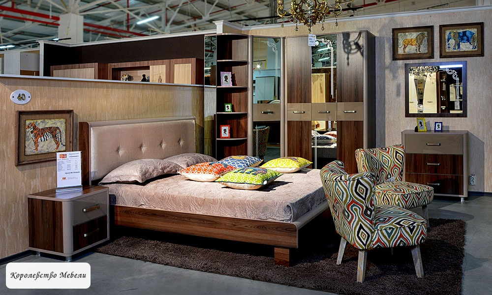 Кровать Оливия, с мягкой спинкой, без основания (дезира тёмный/мокко)