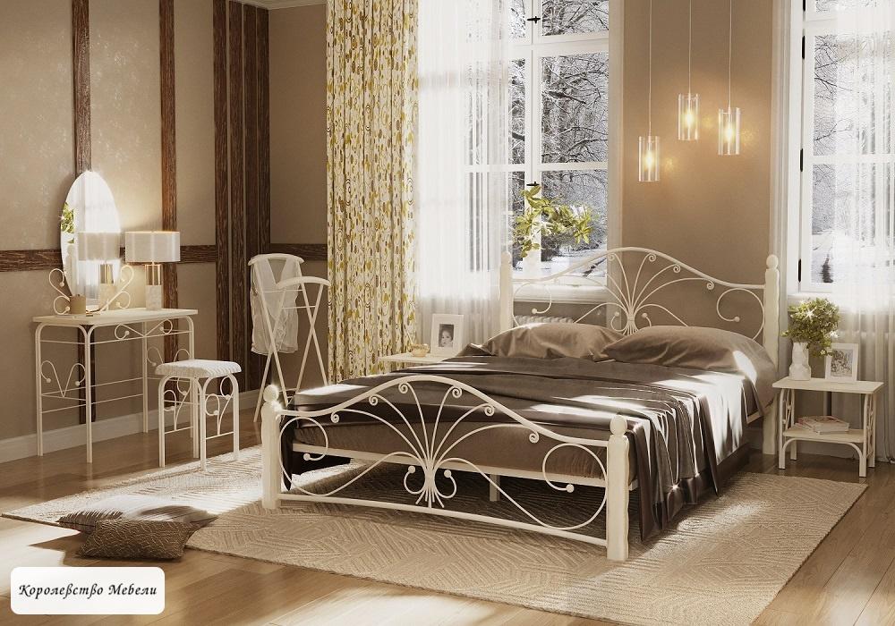 Кровать Фортуна-1 (белый / белый)