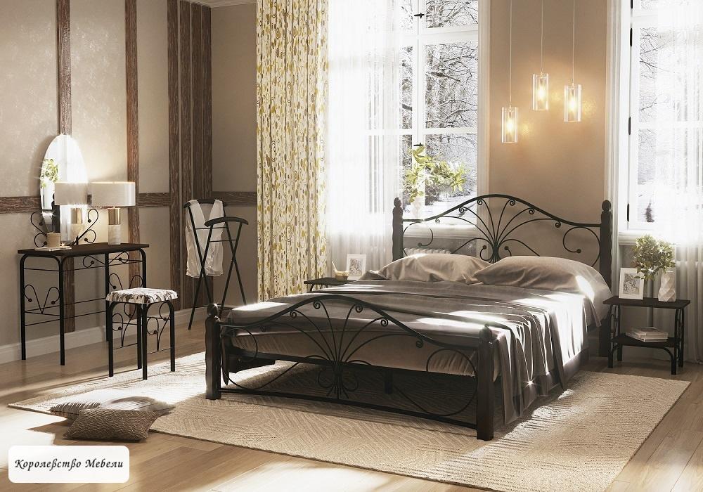 Кровать Фортуна -1 (черный / шоколад)
