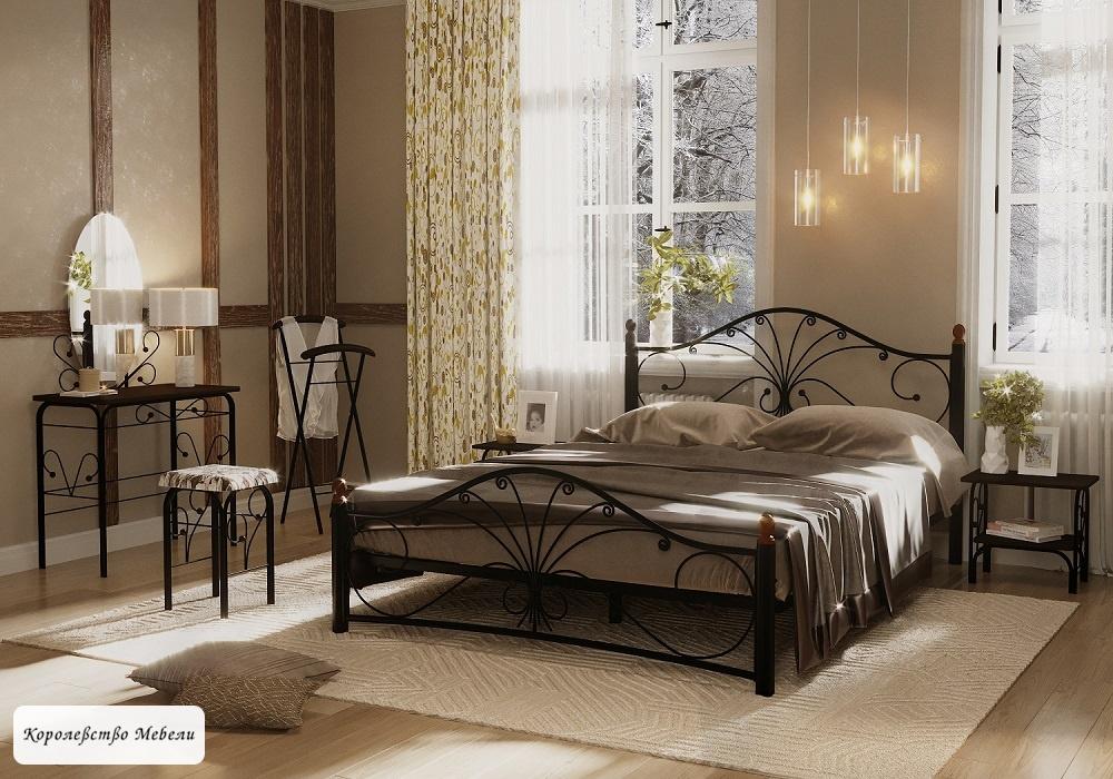 Кровать Фортуна-2  (черный)