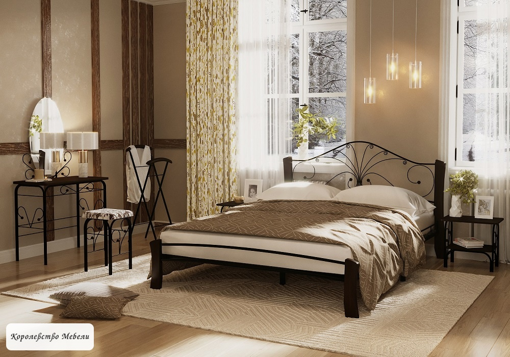 Кровать Фортуна-4 Лайт (шоколад)