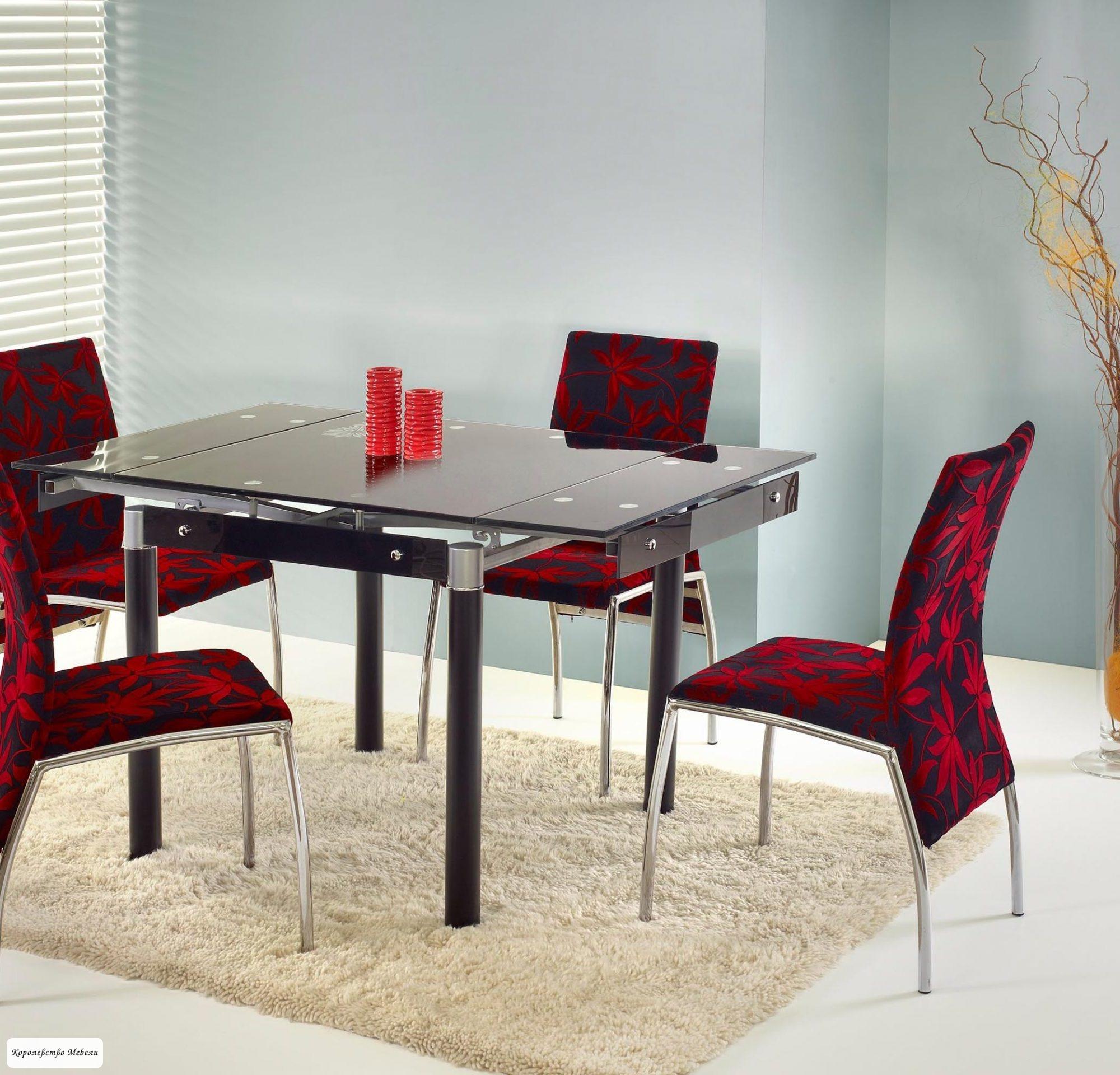 Стол  раздвижной KENT (80--130) черный / черный