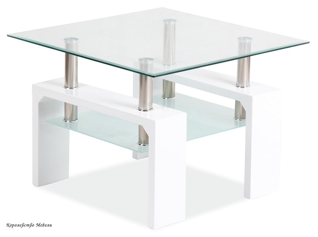 Журнальный столик Lisa D Basic (белый)
