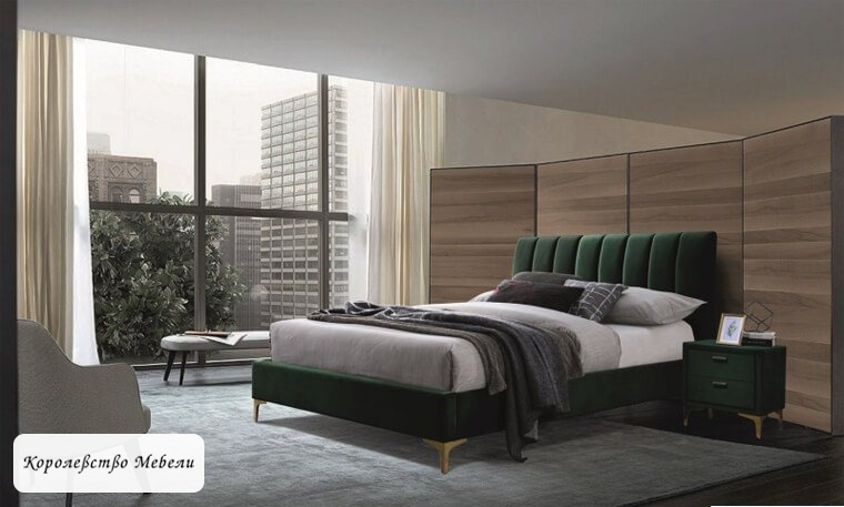 Кровать Mirage Velvet (160*200) (зеленый)