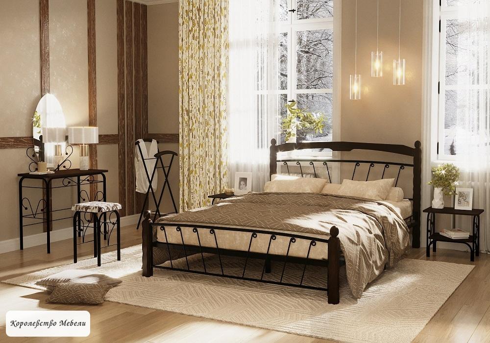 Кровать Муза-1 (черный / шоколад)