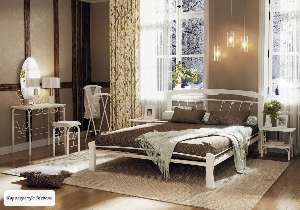 Кровать Муза-4 лайт (белый / белый)
