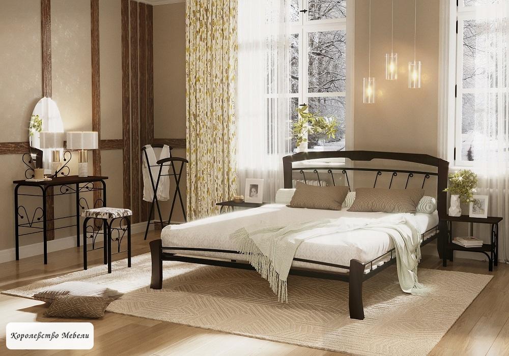 Кровать Муза-4 лайт (черный / шоколад)
