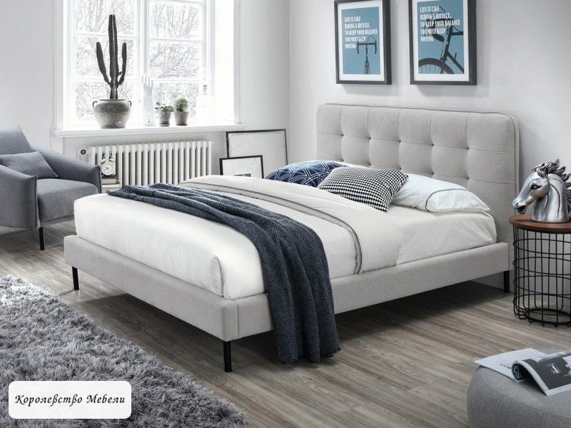 Кровать SALLY (серый) (160*200), с основанием