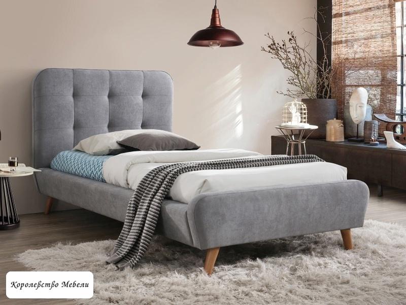 Кровать Tiffany (90*200) (серая), c основанием
