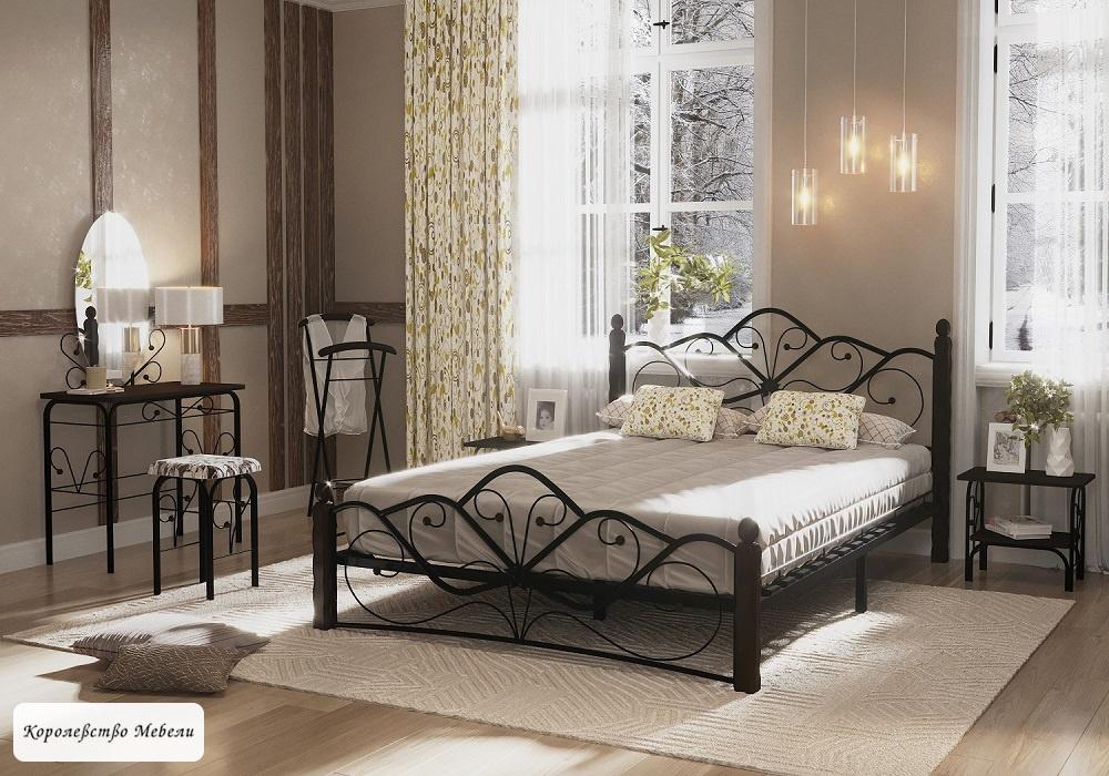 Кровать Венера-1 (черный / шоколад)