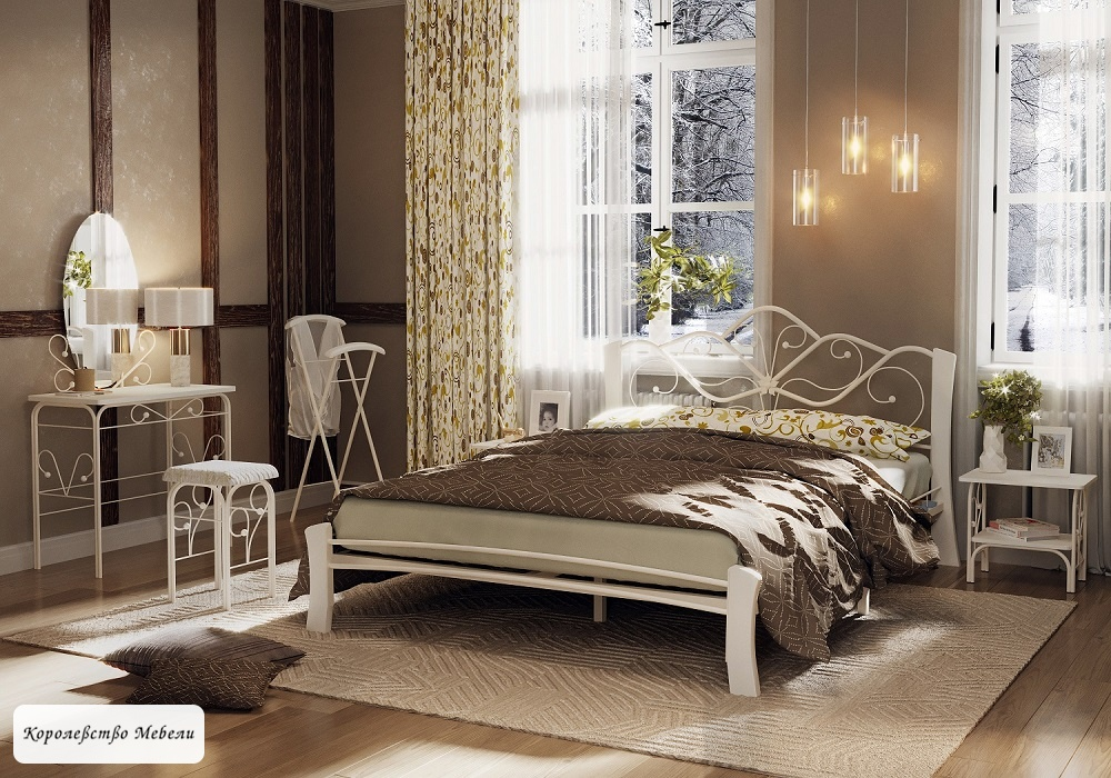 Кровать Венера-4 Лайт (белый / белый)