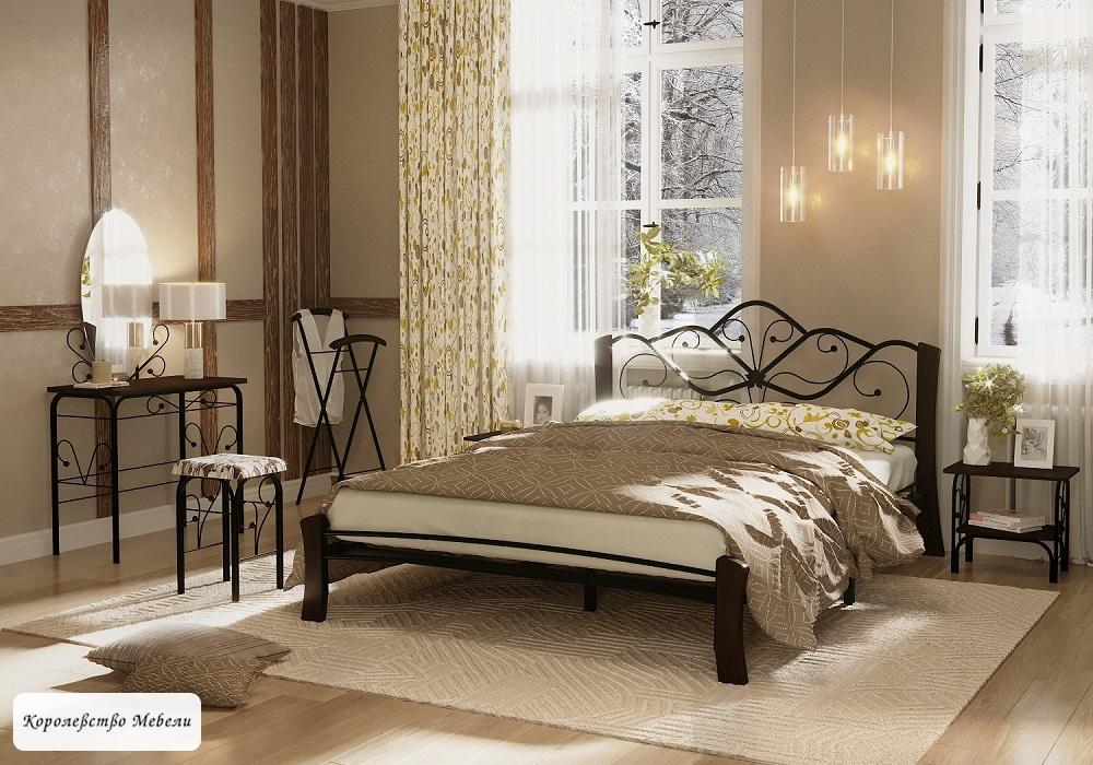 Кровать Венера-4 Лайт (черный / шоколад)