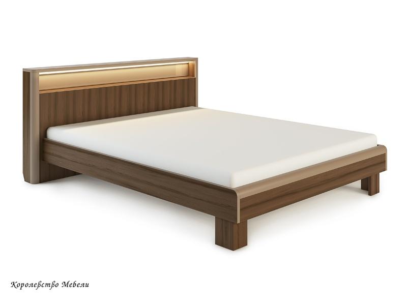 Кровать Оливия, с подсветкой, без основания (дезира тёмный/мокко)