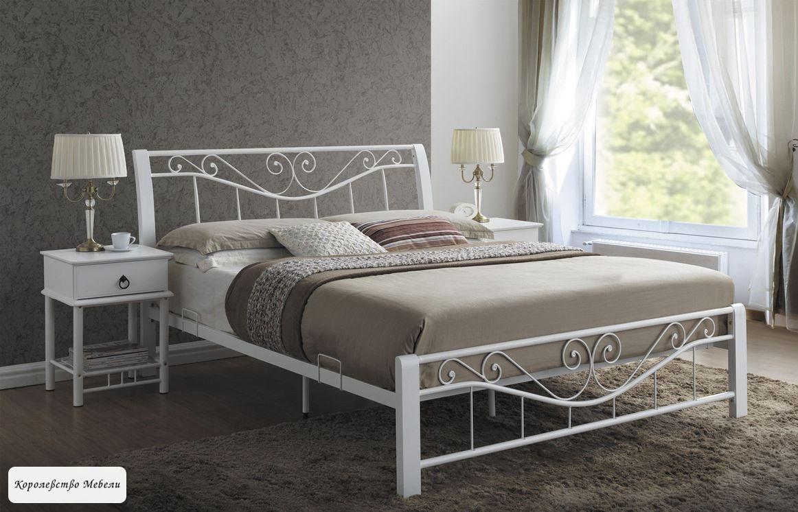 Кровать PARMA (160*200) белая,с основанием