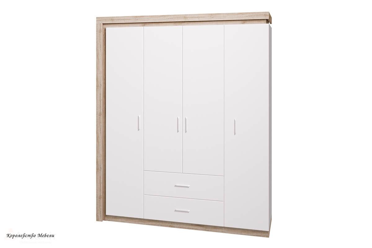 Шкаф для одежды с ящиками 4-х дв. без зеркал Люмен 16