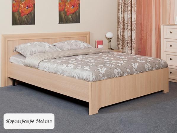 Кровать Анкона (дуб отбеленный),без основания
