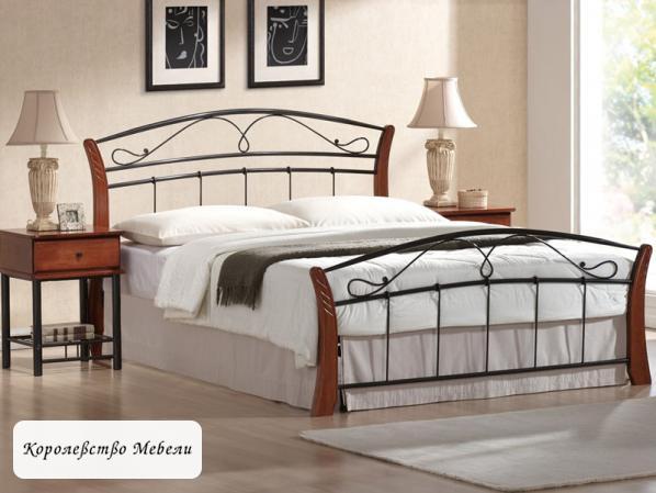 Кровать  ATLANTA (160*200) античная черешня, с основанием