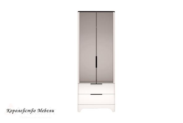 Танго 9 Шкаф для одежды с ящиками 2-х дверный (с зеркалом)