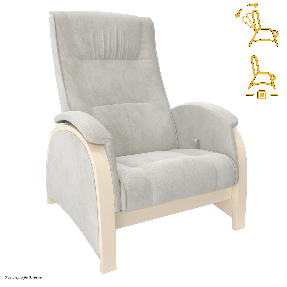 Кресло-глайдер. Модель Balance 2 (раскладное) (шпон)