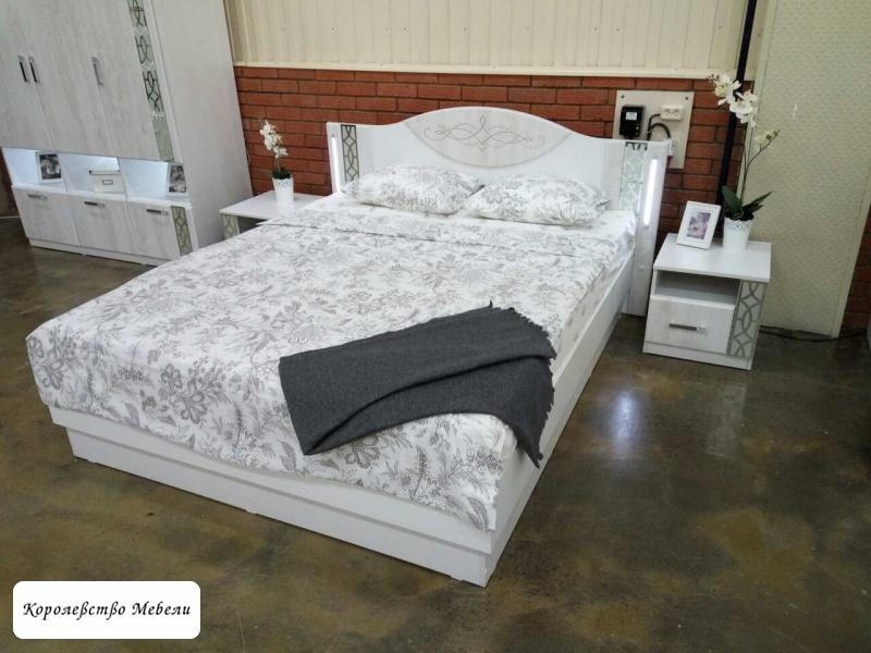 Кровать Белла, с подсветкой,с подъемным механизмом