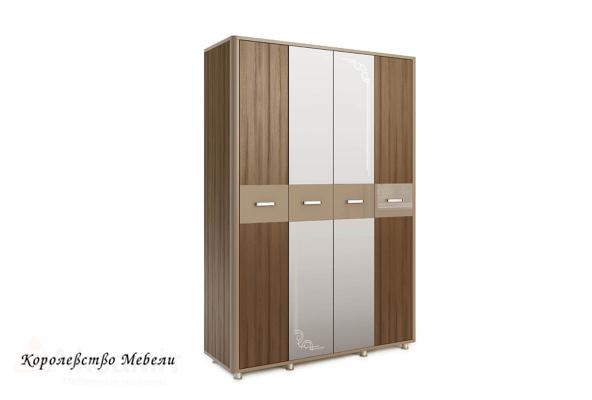 Оливия 14 шкаф 4-дверный Дезира тёмный/мокко